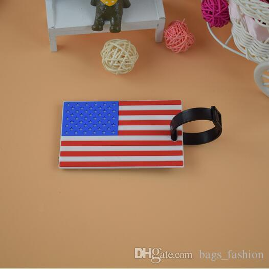 Luggage Card Silicone Tag National Flag Luggage Tag ID Address Holder  Baggage Label Creative National Style Travel Travel Tags for Suitcase