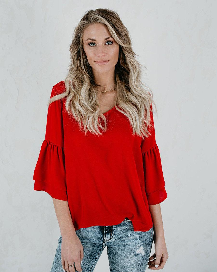 Summer Women T Shirts Sexy Ladies V Neck Sleeve Loose T Shirt Casual Half  Sleeve Tops Women Clothes Slogan T Shirts Vintage T Shirt From Bibei06, ... 1d10dc4811