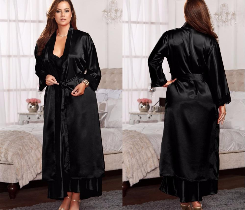 d84bcfc68c Big silk robes for women bathrobe satin robe sexy robes jpg 1000x859 Women  robes