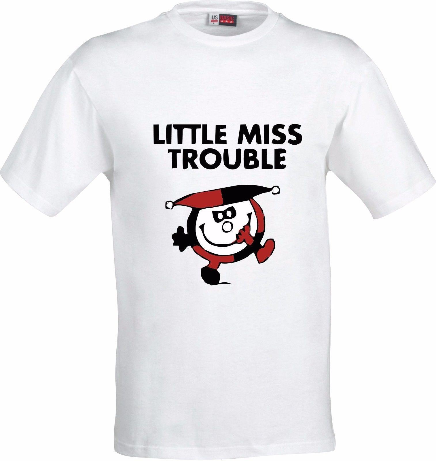 e4579c28711 LITTLE MISS TROUBLE FUNNY FULL COLOR SUBLIMATION T SHIRT Custom Printed  Tshirt