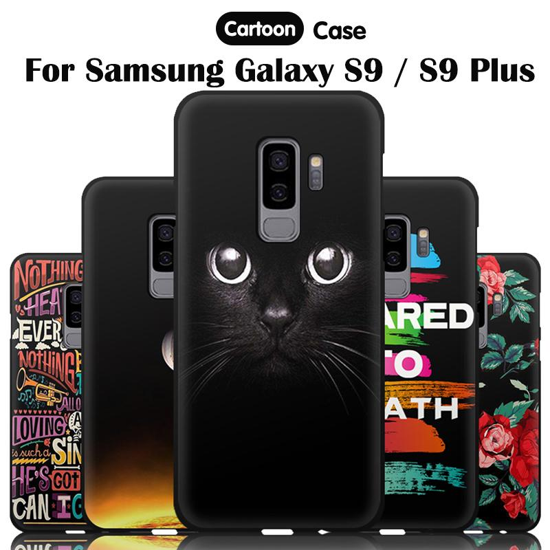 Phone Case For Samsung Galaxy S9 Plus Cases Cover Cartoon Cute Fashion  Silicone Coque For Samsung Galaxy S9 S 9 S9plus
