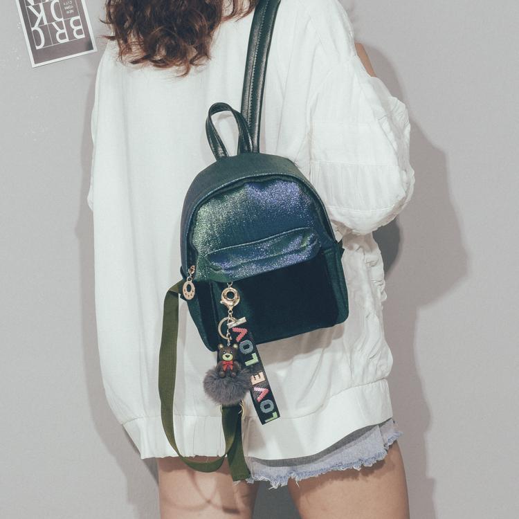 Velvet Mini Backpack 2019 New Quality Fashion Women Backpack Cute Backpack For Teen Kids Mini-Back Pack Girl School Backpacks