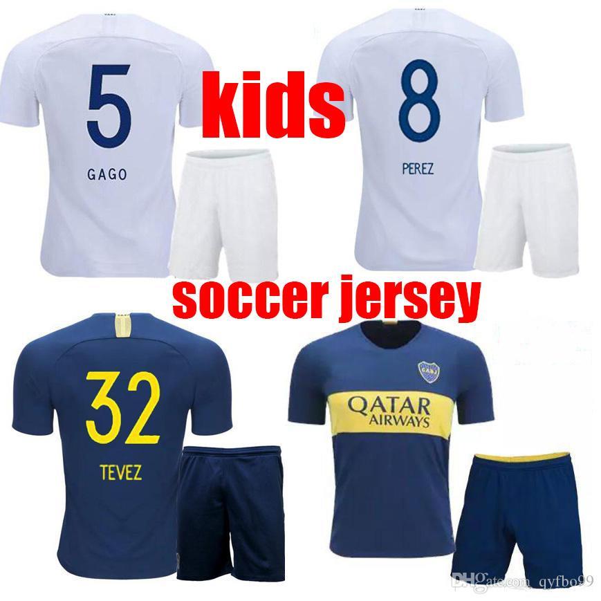 Compre 18 19 Niños Boca Juniors Camisetas De Fútbol Pantalones Cortos Niños  Boca Soccer Kits 2018 19 OSVALDO CARLITOS PEREZ P GAGO Camiseta De Fútbol  Niños ... 07b41846c6c15