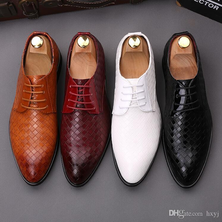 2019 Italian Designer Men Formal Wedding Shoe Fashion Lace
