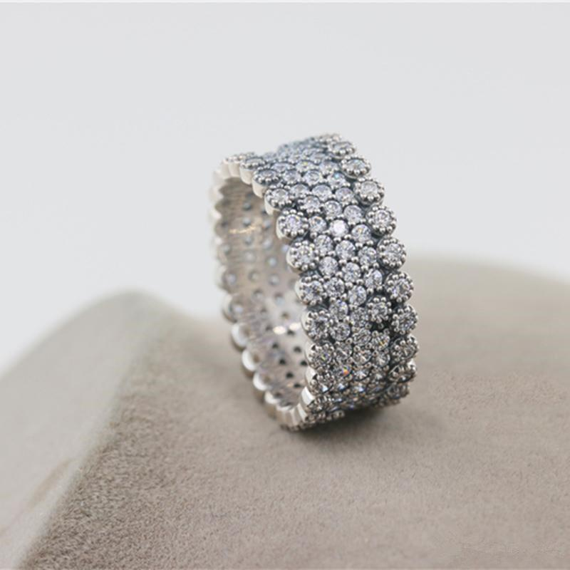 88cc49cc79e Luxury 925 Sterling Silver Rings Fit Pandora Vintage Fascination Ring Clear  Cubic Zirconia Fashion Charm Rings Lover Gift With Original Box Silver Rings  ...