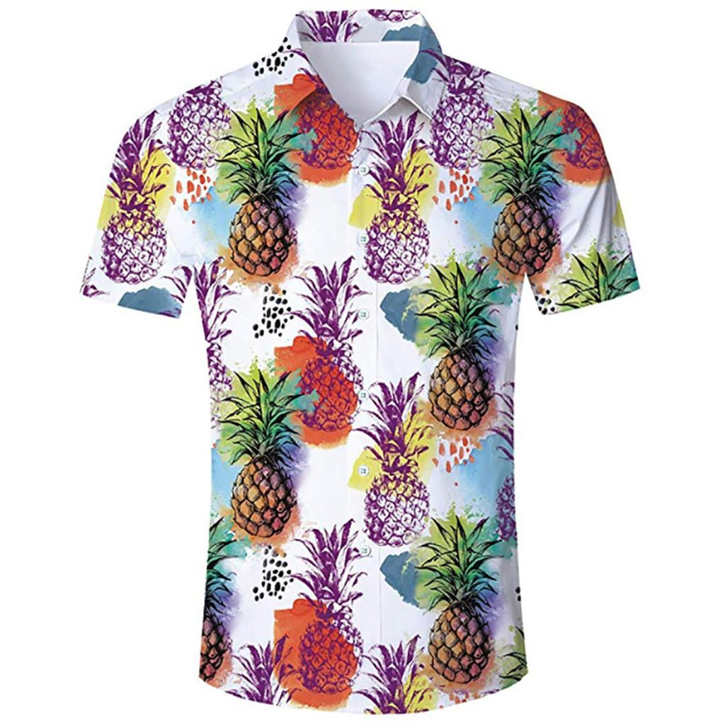buy popular 02426 0bf90 Camicia Uomo Summer Beach Camicia Hawaiana Uomo Casual Manica corta Hawaii  Chemise Homme Formato asiatico camisa hombre # 3.5