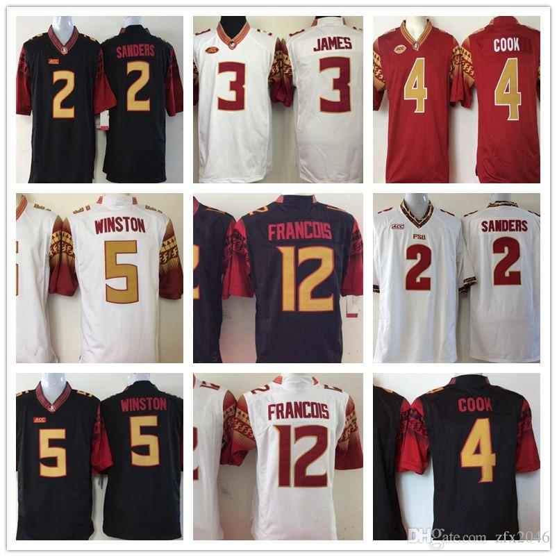 c88a11e5df4 2019 Florida State Seminoles 2 Deion Sanders 3 James 4 Cook 5 Jameis  Winston 12 Deondre Francois NCAA College Football Jerseys Stitched From  Zfx2046, ...