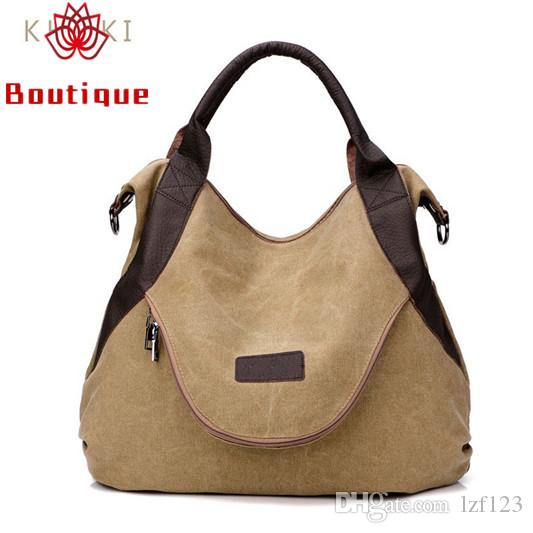 fb050e4e9ca2 Boutique Brand Large Pocket Casual Tote Women s Handbag Shoulder ...