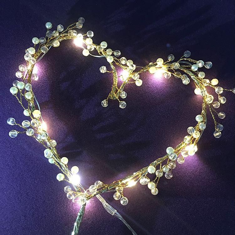Heart LED Cupcakes Cake Toppers Baby Shower For Girl Happy Birthday Cake Topper Party Decoration Suppliers Cake Decorating Tool