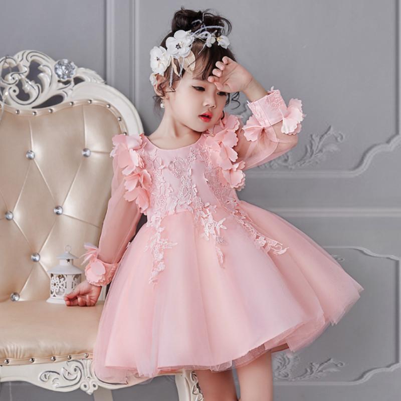 b4c82eb53 Compre Vestido De Niña Fiesta Boda De Cumpleaños Princesa Del Niño Pequeño Bebé  Ropa De Navidad Para Niños Niños Vestidos De Niña Y19011404 A  19.38 Del ...