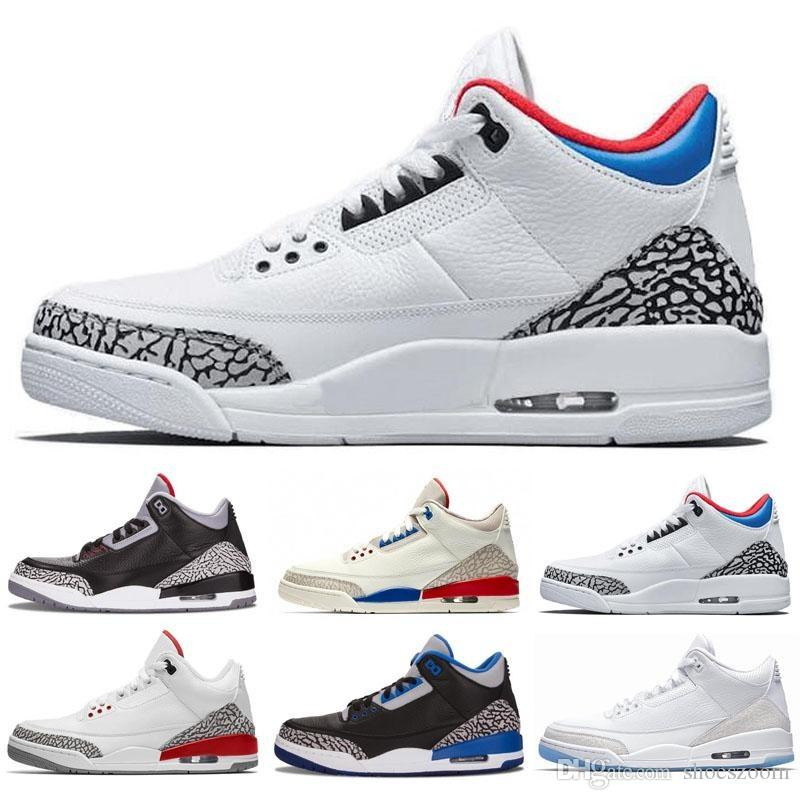 6d429da4cc6 2019 3 3s Mens Basketball Shoes Tinker NRG Free Throw Line White Black  Cement Fire Red Blue Infrared Retro Sports Trainers Sneakers Size 8 13 From  Shoeszoom ...