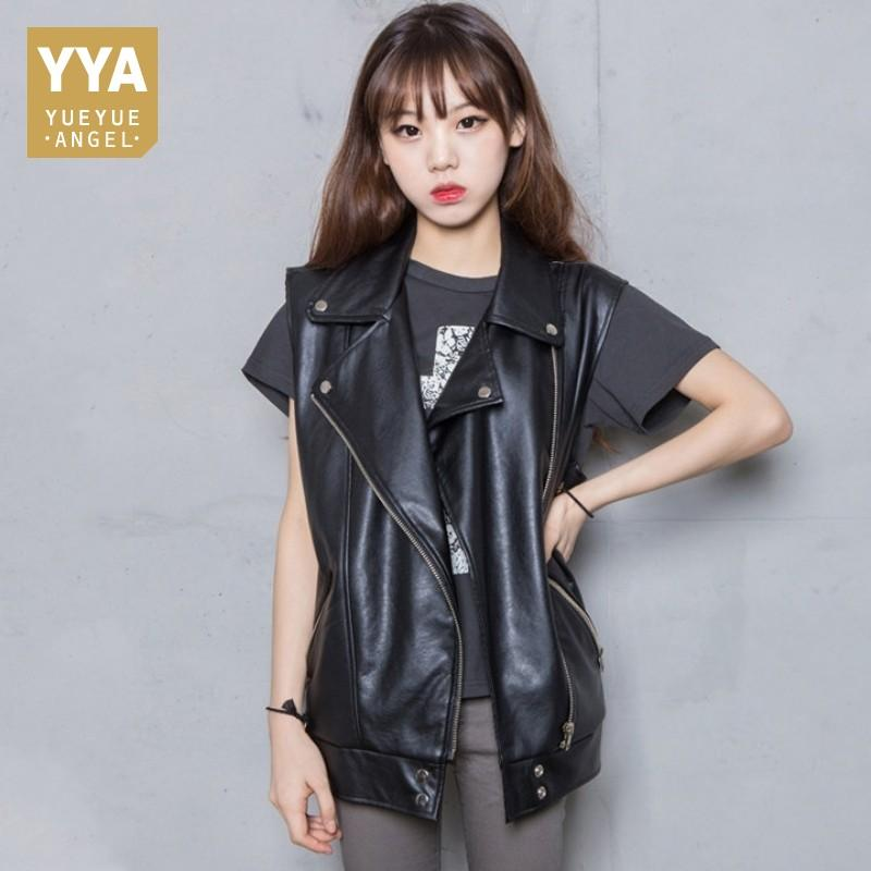 ce0e0859d9bc 2019 2019 Spring New Sheepskin Genuine Leather Vest Women Sleeveless Loose  Fit Korean Waistcoats Black Natural Leather Jackets Ladies From Odelettu,  ...