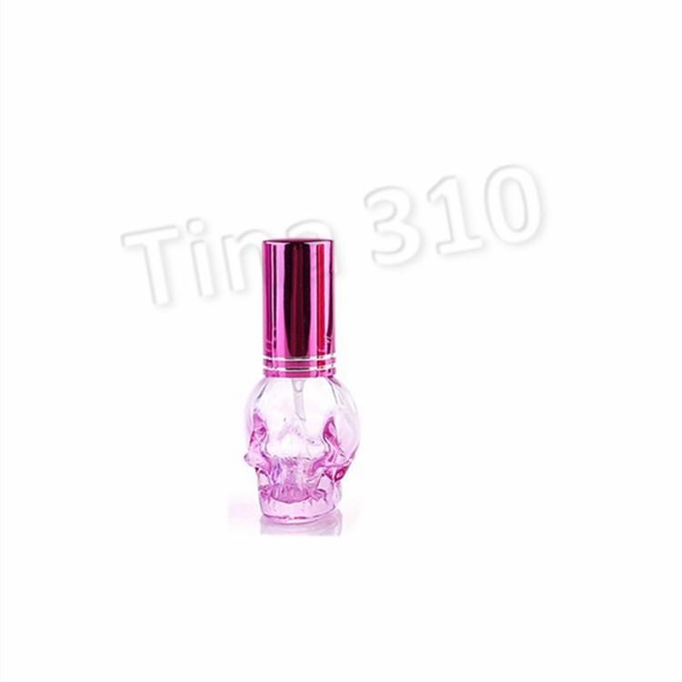 красочная портативной 8ML мини стеклянной бутылка череп флакон духов толстого Распылитель автомобиль украшение дома Главная AccentsT2I5637
