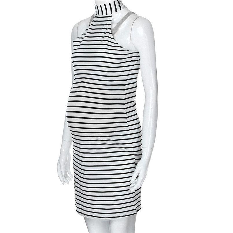 dd7a5fce37951 2019 Summer Maternity Clothes Women Maternity Pregnants Sleeveless Striped  Dress Sexy Mini Casual Dress Pregnancy Dress JE15#F From Westbit11, ...