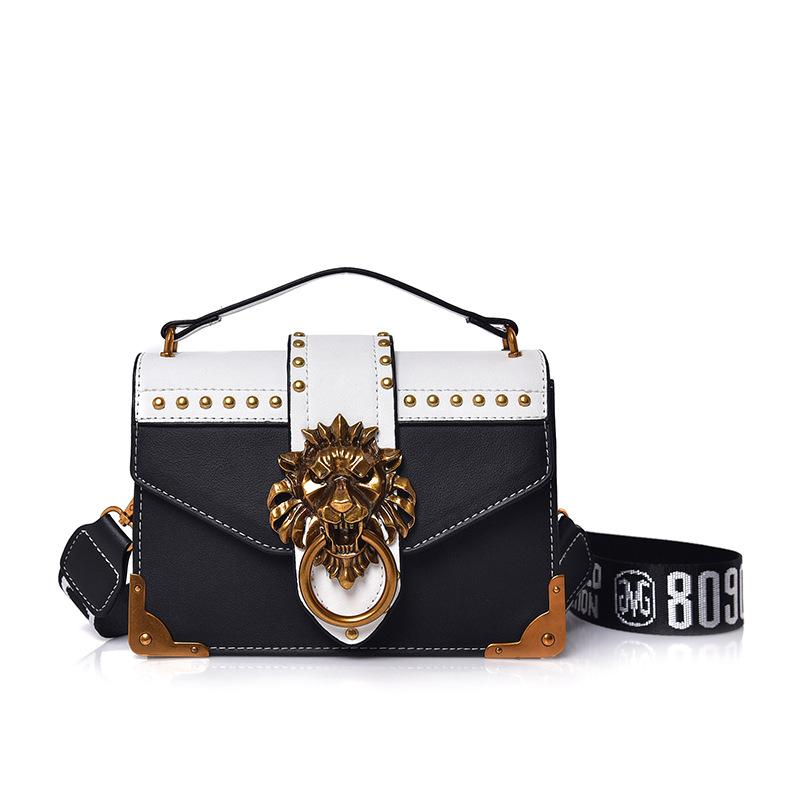 c34d9352e384 Small Leather Female Shoulder Crossbody Bag 2019 Pink Lion Head Ladies Red  Messenger Bags Luxury Handbags Women Bags Designer Laptop Bags Leather  Backpack ...