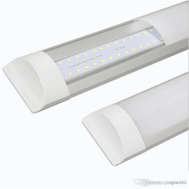 Surface Mounted LED Batten Double row Tubes Lights 2FT 3FT 4FT T8 Fixture Purificati LED tri-proof Light Tube 20W 30W 40W 85-265V 5050