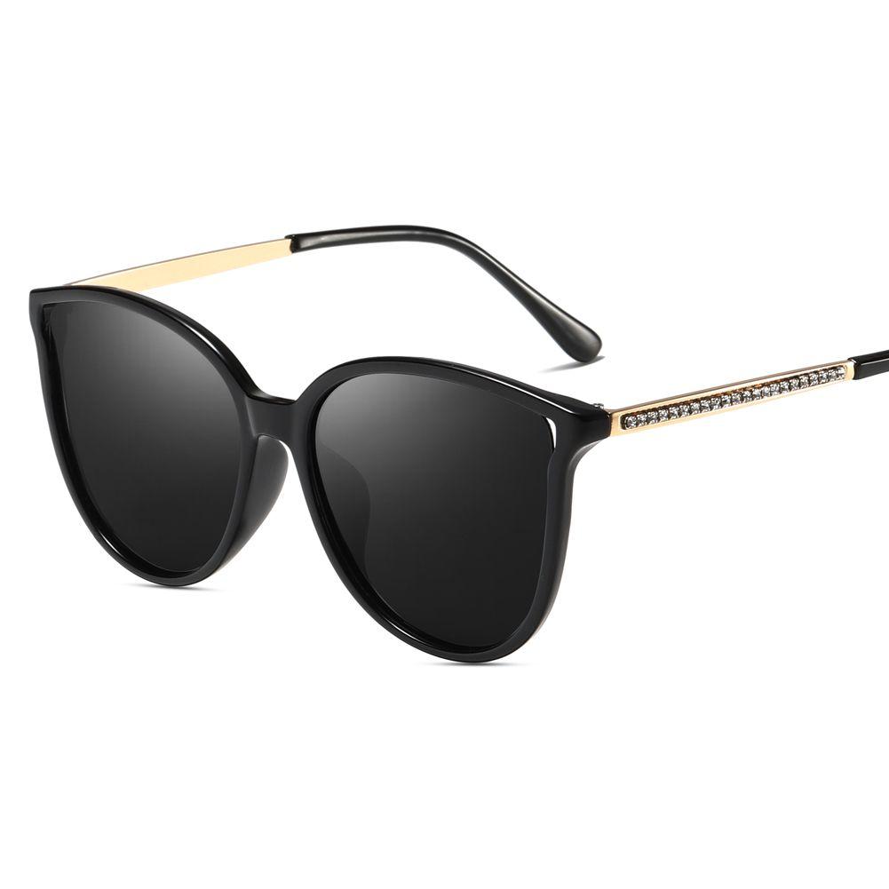 Compre 2019 Nueva Marca De Moda Para Mujer Gafas De Sol Polarizadas Para Mujer  Gafas De Sol De Gran Tamaño Cateye Para Conducir Rhinestone Cat Eye Gafas  De ... 1058a9ebf644