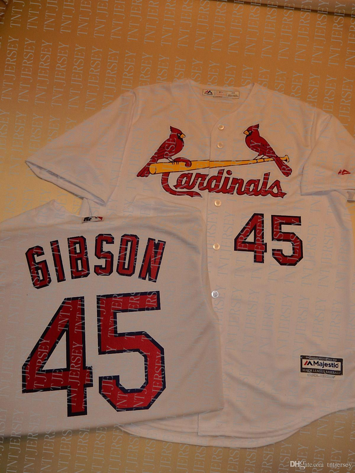 100% embroidery custom BOB GIBSON Jerseys New Stitch customize any number name MEN Jerseys XS-5XL NCAA JERSEY