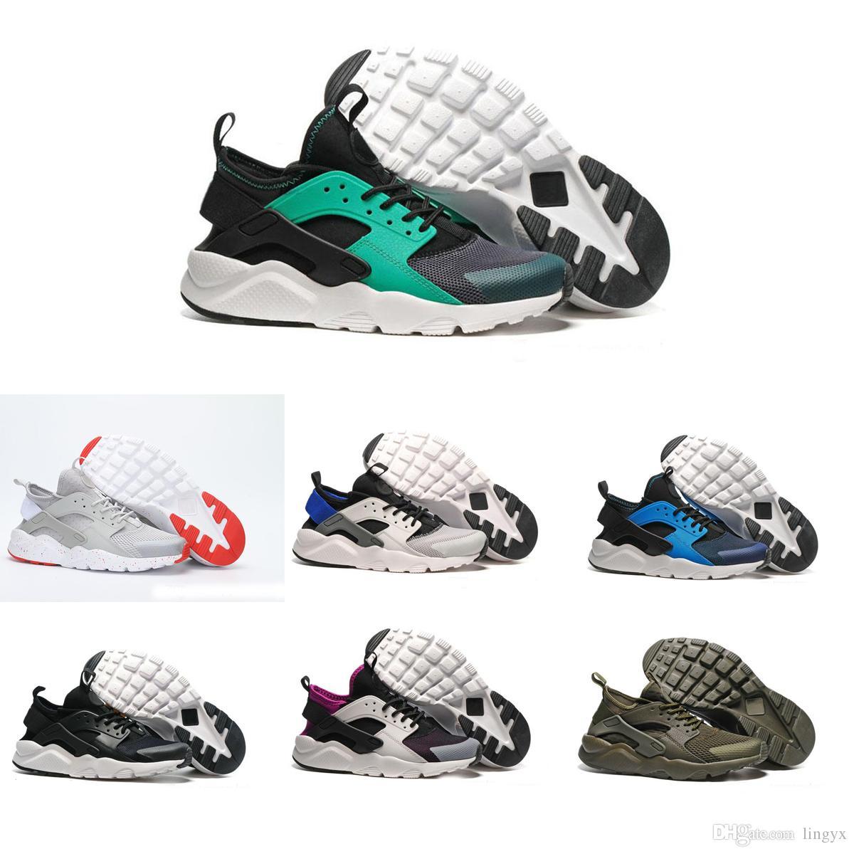more photos 7b14f 0442e Großhandel Nike Air Huarache Run Neue Huarache 4 Ultra Laufschuhe Huraches  Für Herren Damen Schwarz Weiß Rot Bunte Huaraches Designer Schuhe  Turnschuhe Von ...
