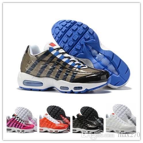 énorme réduction b5689 91670 nike air max 2019 designer 95 chaussure homme Triple rose bleu Noir Blanc  95s Par des femmes Hommes Chaussures De Course Baskets Baskets De Sport ...