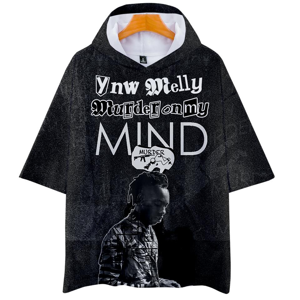 6b30eda26a7 2019 BTS 3D Print YNW Melly Print Hoodies Women And Men Clothes Casual Hot  Sale Short Sleeve Hooded Tops Kpop Personality Plus Size From Bearlittle