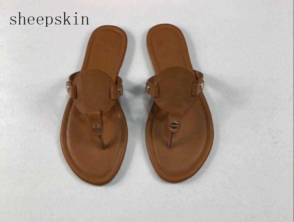 e0229284d Sheepskin Miller Sandals Women S Leather Flip Flops Miller Slippers TB  Sandals Miller Clip Toe Sandals 35 Colour SIZE 35 43 Buy Shoes Online Wedge  Boots ...