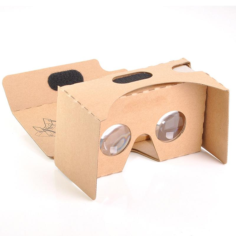3D Glasses Light Castle Card Style Virtual Reality VR BOX II Glasses For 3.5 - 6.0 Inch Smartphone Glass For Iphone Samsung