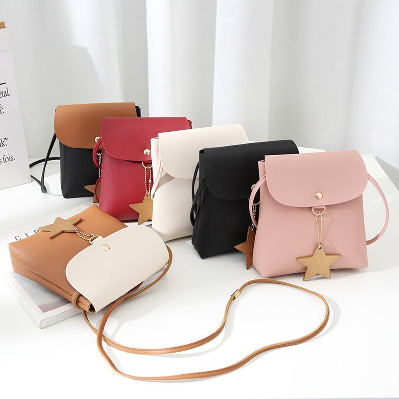 6e0ab1c9af4 Girl Shoulder Bags Wave Mini Five-pointed Star Tassel Handbag Card ...