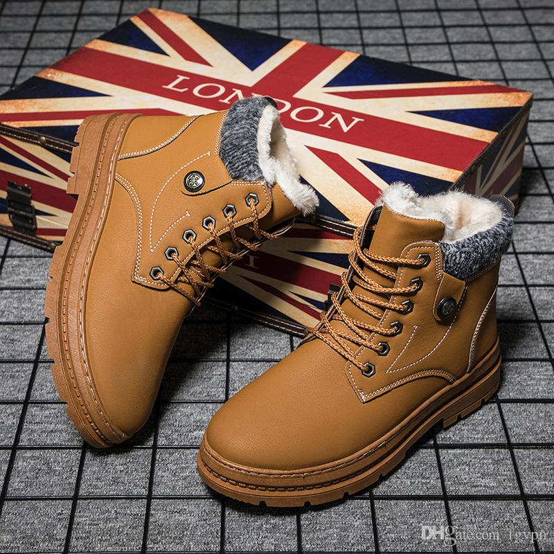 f9ca14ea4b04e 2019 Fashion Men S Outdoor Winter Brown Boots Martin Plus Velvet Snow Boots  Non Slip Cool Pirate Boots Footwear 39 44 Naot Shoes High Heel Shoes From  Fgvpn