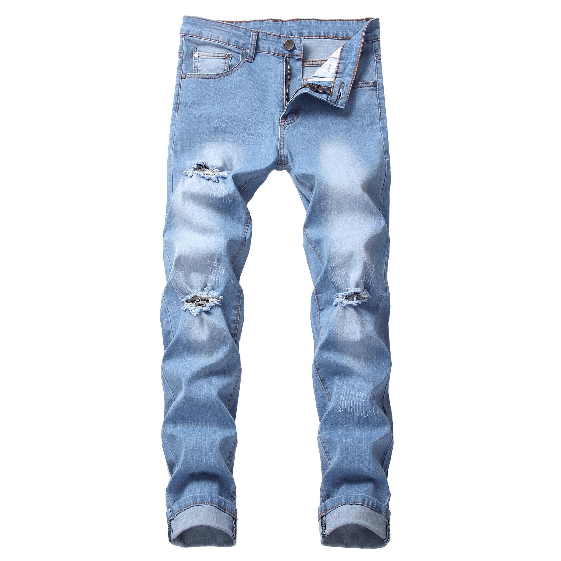 79f2d424b Compre Novedades Pantalones Vaqueros Para Hombres De Marca De ...