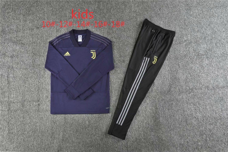 2019 Juventus Kids soccer Tracksuit MARCHISIO RONALDO Track suits jacket 2018 19 DYBALA HIGUAIN chandal Juve Kids training suit sports wear