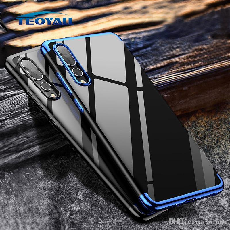 For Huawei Honor 7A Note8 8X 9 10 Lite Case Plating Transparent Clear Back Comfortable Electroplate Cases For Huawei Honor CellPhone