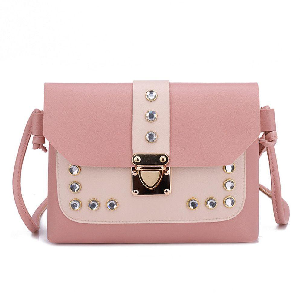 ... Women Hit Color Rhinestone Shoulder Bag Messenger Satchel Tote  Crossbody Bag PU Leather Luxury Bag Bolsa Feminina Man Bags Crossbody  Purses From Bags6, ... 7e6e67804a