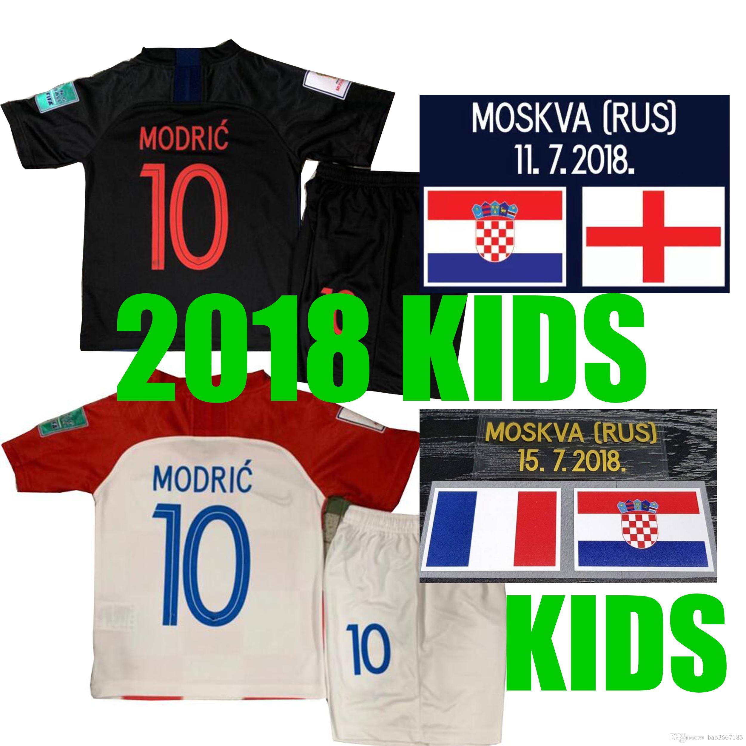 Kids 2018 World Cup MODRIC MANDZUKIC RAKITIC Cro Home Soccer Jerseys ... 8eb216405