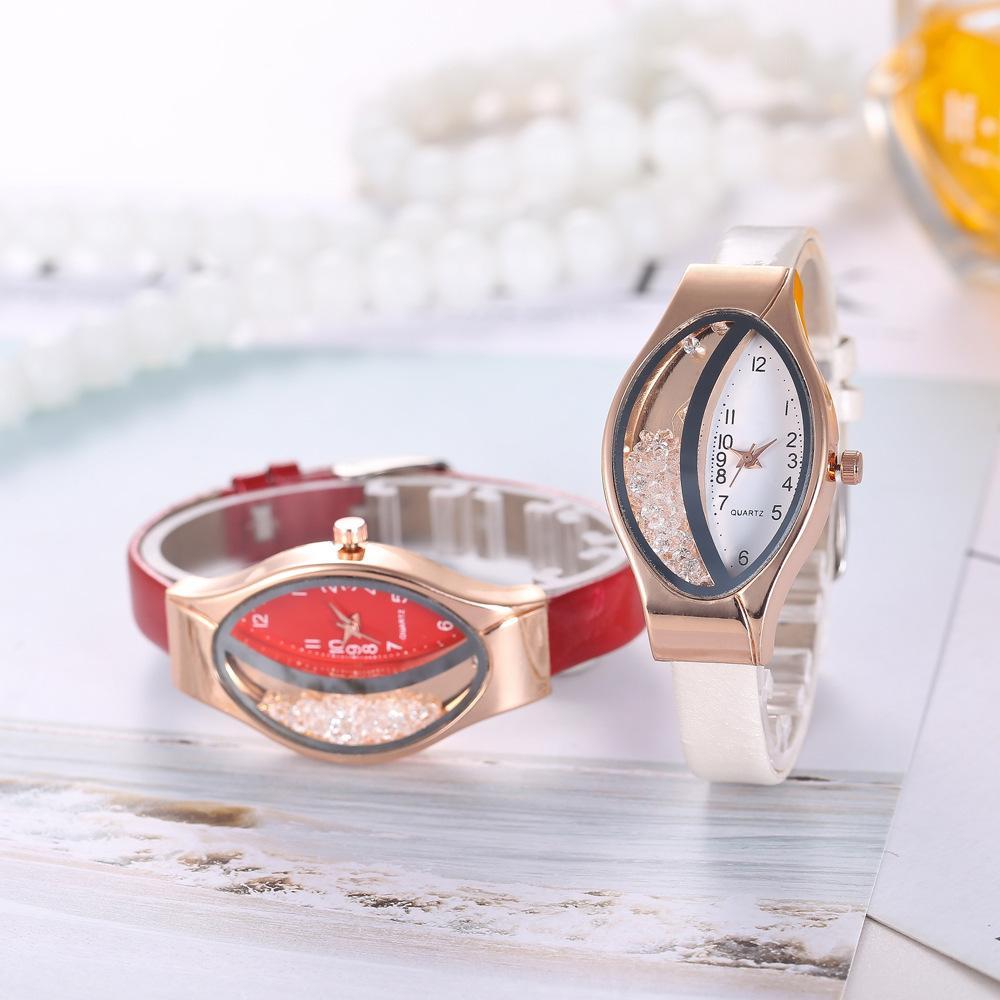 76601de70815 Compre Nuevo Reloj De Pulsera Originalidad Ellipse Fashion Quicksand Relojes  Digitales Cuarzo Casual Acero Completo Mujer Cristal Diamante Estilo De  Dial De ...