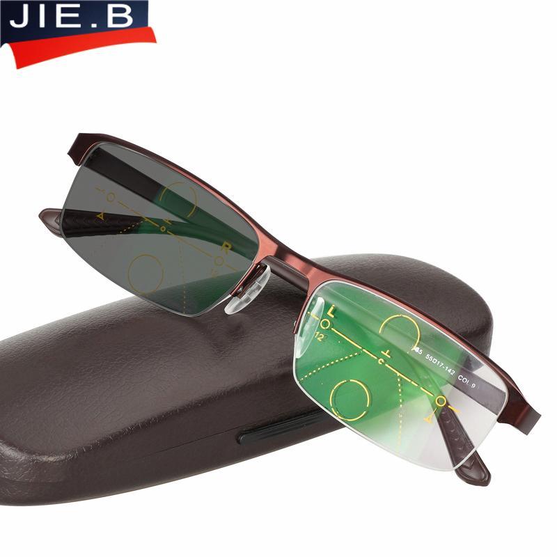 1e7def239 Compre Óculos De Transição Multifocal Progressiva Óculos De Sol Óculos De  Leitura Fotocrômico Homens Pontos Para O Leitor Perto De Visão Distante  Dioptria ...