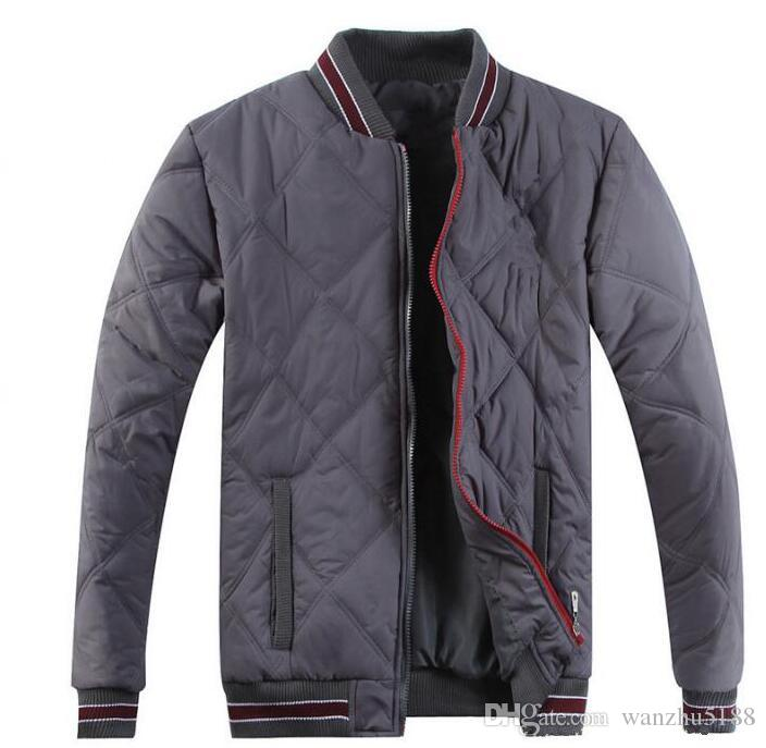 Free send Men brand dacron wool collar down jackets plus size quilted coat Men PAUL down jacket outerwear SIZE S-XXL