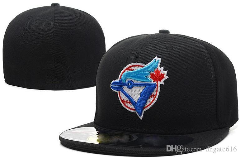 New Hot On Field Blue Jays montato cappello CAP Top Quality flat Brim embroiered Lettera Team M logo fan baseball Cappelli full closed cap
