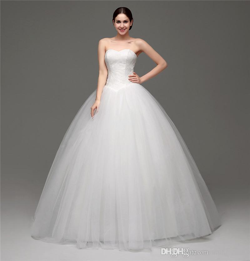 compre barato más el tamaño del vestido de novia blanco 2017 sin