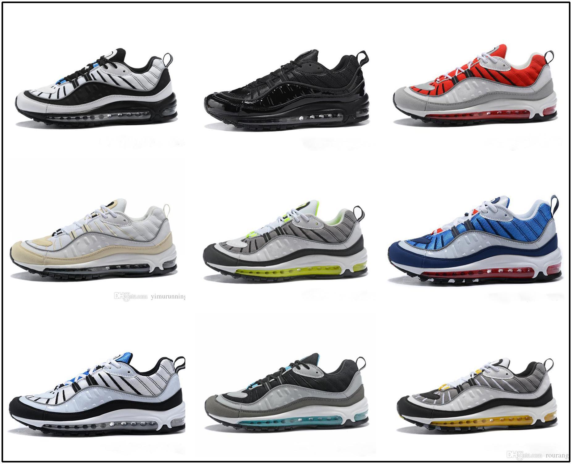 6addd1db Compre Nike Air Max Airmax 98 Nuevo Llegado 98 Gundam Tour Zapatillas  Zapatillas Hombre Aniversario 98 OG Luminoso NUEVO 98s Zapatos Baratos  Auténticos 40 ...