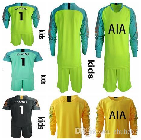 4fdf909f6da 2019 KIDS LLORIS #1 Goalkeeper Uniforms KANE LAMELA ERIKSEN DELE SON Jersey  Football Long Sleeve Shirt KIDS Soccer Kit From Zhuhao2, $18.28 | DHgate.Com