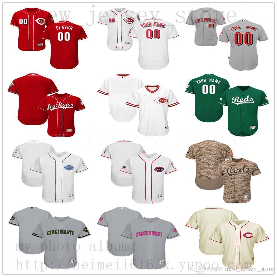 6ab4f89b371 2019 Custom CincinnatiReds 2019 New Men Womens Youth Jerseys White ...