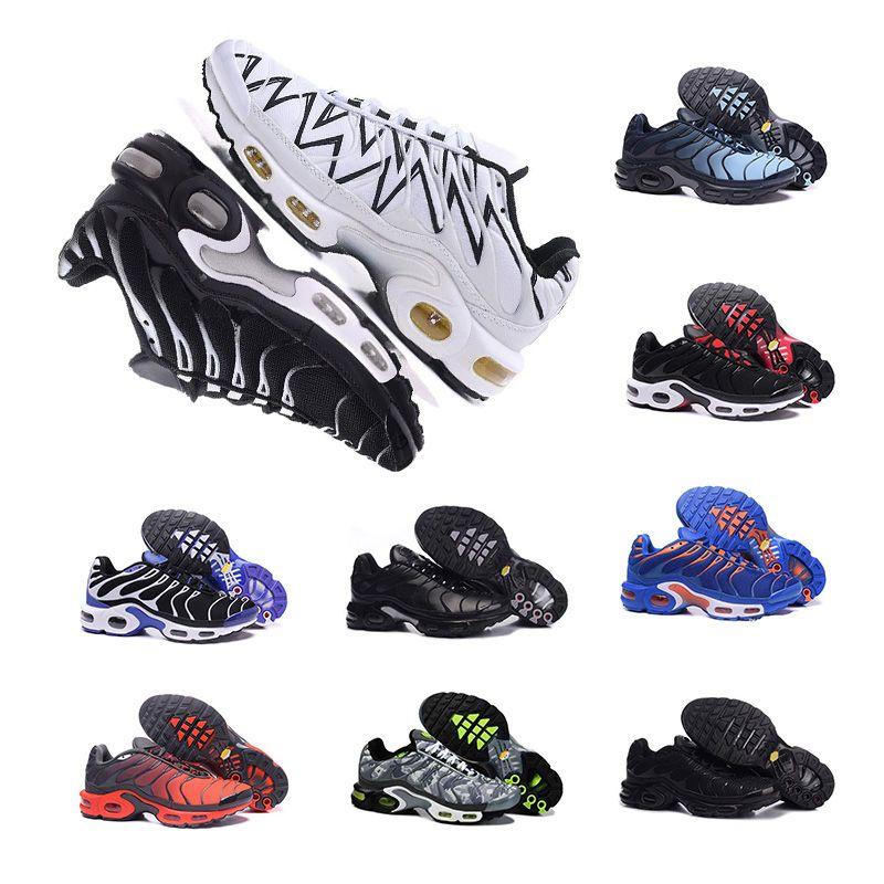 2c8db070df8 nike air max Plus TN 2019New Herren atmungsaktive Laufschuhe schwarz, weiß,  orange Laufschuhe Damen und Herren Laufschuhe Größe 36-46