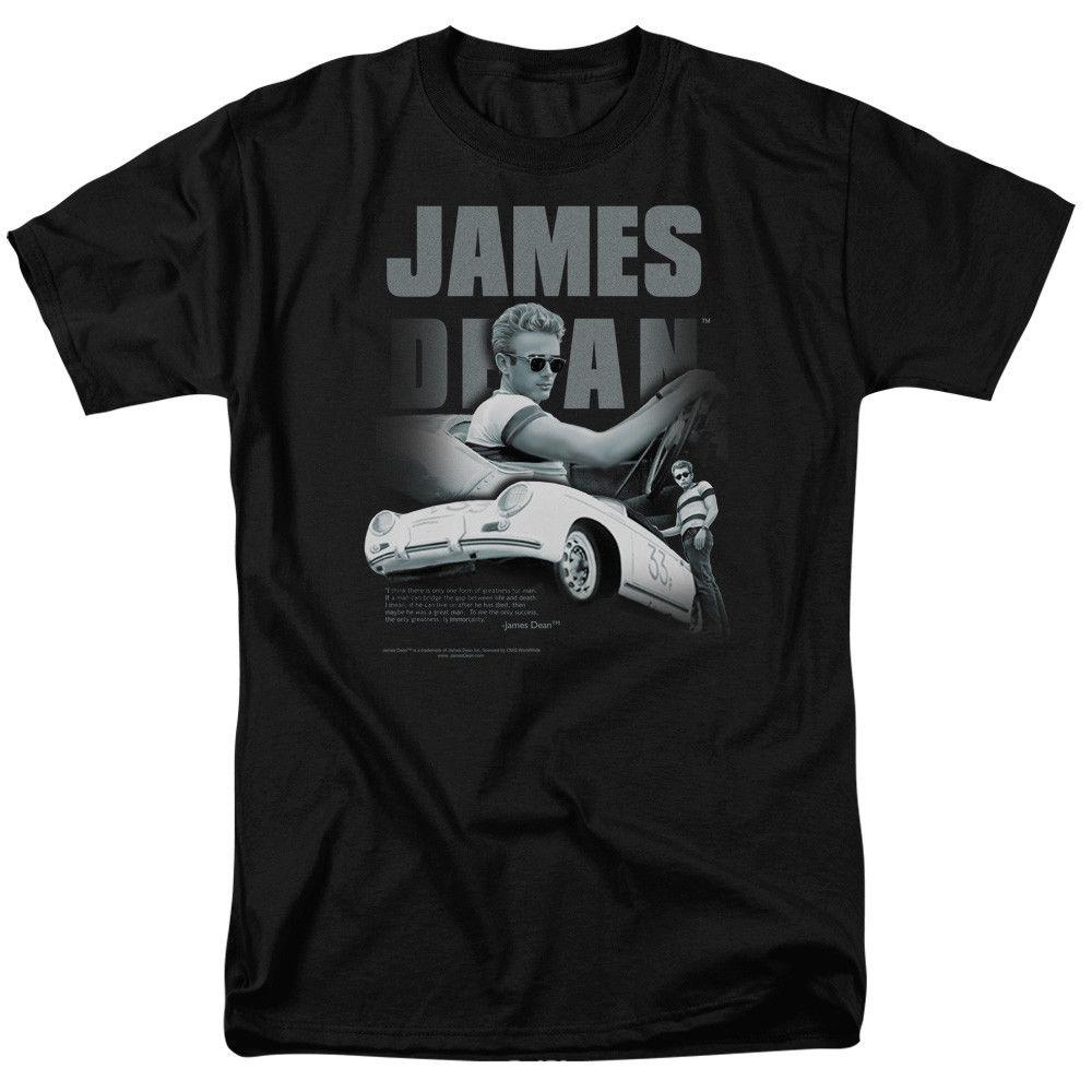 "James Dean ""Immortality Quote"" T-Shirt - Adult, ChildFunny free shipping Unisex Casual Tshirt top"