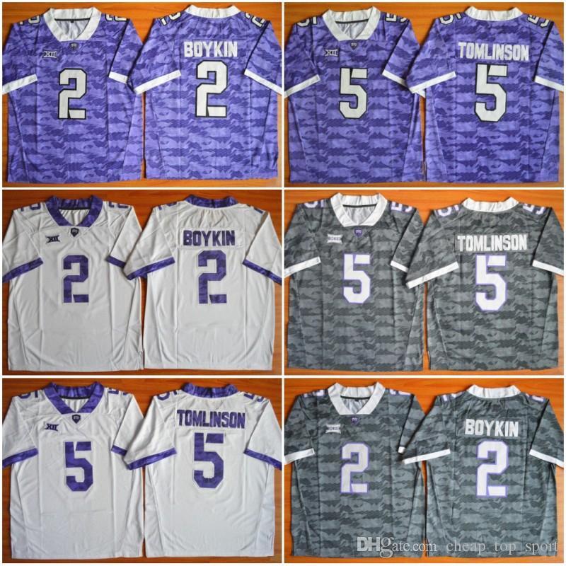 buy online b1c3a 17537 TCU Horned Frogs Trevone Boykin 2 LaDainian Tomlinson 5 NCAA Limited  Football Jersey STITCHED JERSEY FOOTBALL SPORT MEN