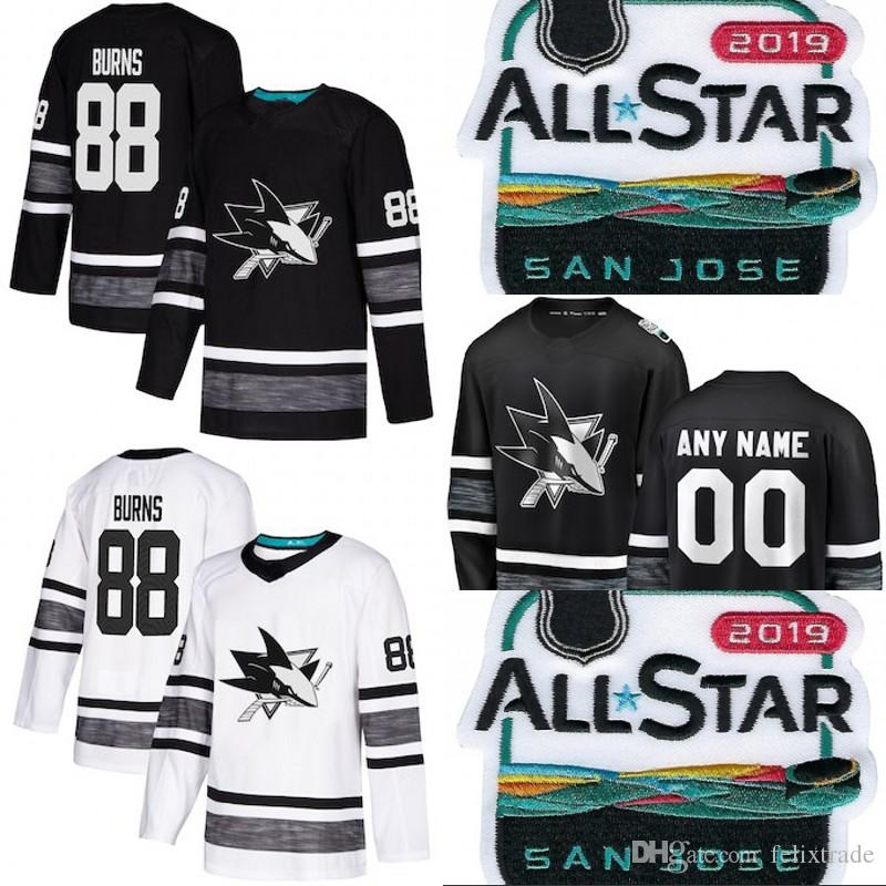size 40 cf716 9c735 2019 All-Star San Jose Sharks Game Brent Burns Joe Pavelski Erik Karlsson  Evander Kane Joe Thornton Logan Couture Vlasic Hockey Jerseys