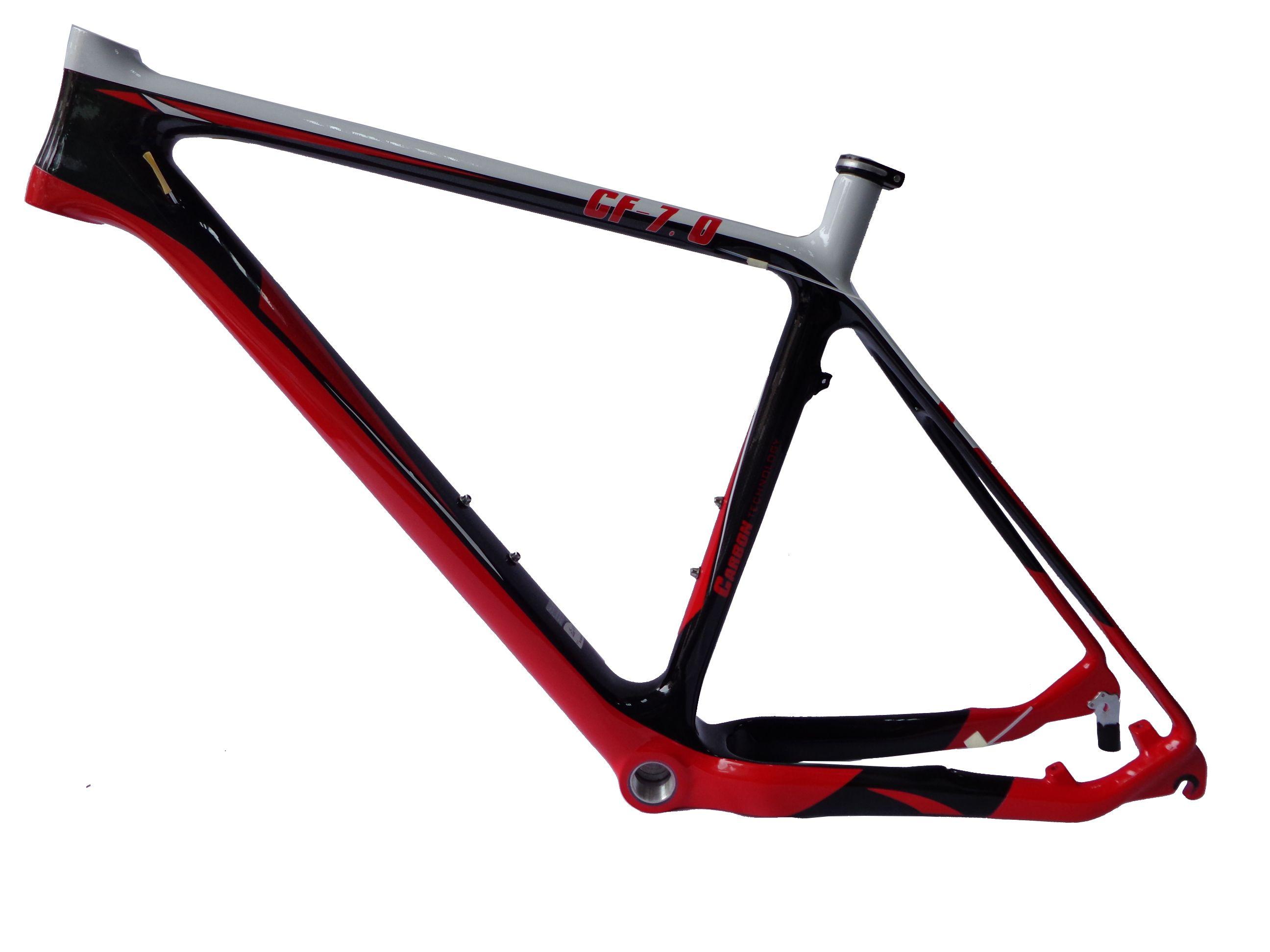 Mb207 Red Color Painting Carbon Mountain Bike Frame Carbon Fibre