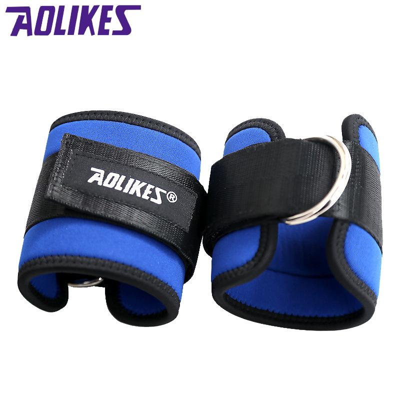 AOLIKES 2 Pcs /Lot Ankle Straps Leg Strength Training Weight-bearing Power Belt Foot Ring For Fitness Taekwondo Footable Running