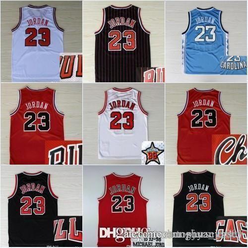 new product 05b5e 2a81c Hot Sale #23 Michael MJ Jersey North NCAA Carolina College Michael  Embroidery Logo Stitched Basketball Jerseys Cheap Wholesale