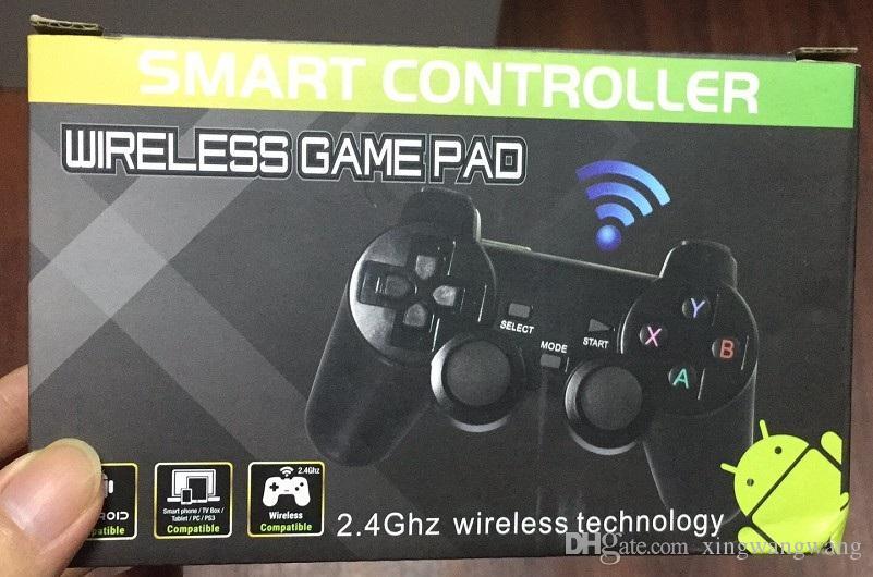 أعلى جودة 2.4G اللاسلكية غمبد PC للتحكم لعبة PS3 TV صندوق المقود 2.4G المالي Joypad عن بعد للXIAOMI الروبوت PC